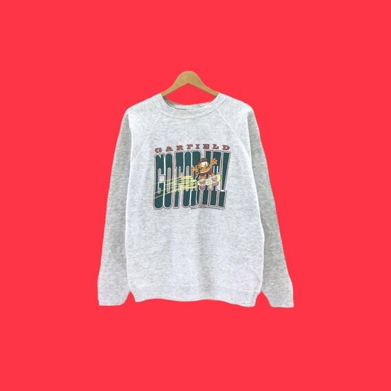 Rare!!Vintage 70's Garfield Sweatshirt Biglogo ful