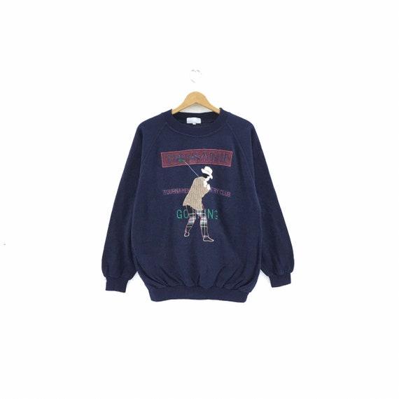Vintage 90's Trussardi Golf Sweatshirt Made In Ita