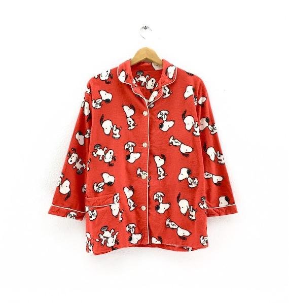 Vintage Snoopy Pajamas fullprint clothingVintage m