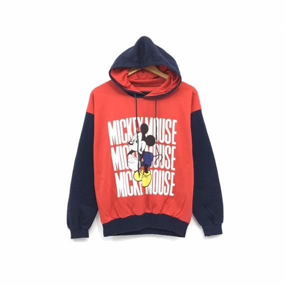 Vintage MICKEY MOUSE disneyland resort big fullprint sweatshirt pulloverfashionstylestreetwearcartoonrave Rare!