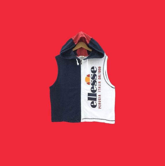 Vintage ELLESSE Short Sleeve big logo Embroidery s