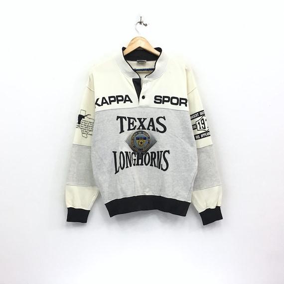 Embroidery logo men Sweatshirt Longhorn Texas Asap hiphop Kappa Spellout small Rare vintage Vintage Big logo clothing rocky 90's OwCFHfHxq
