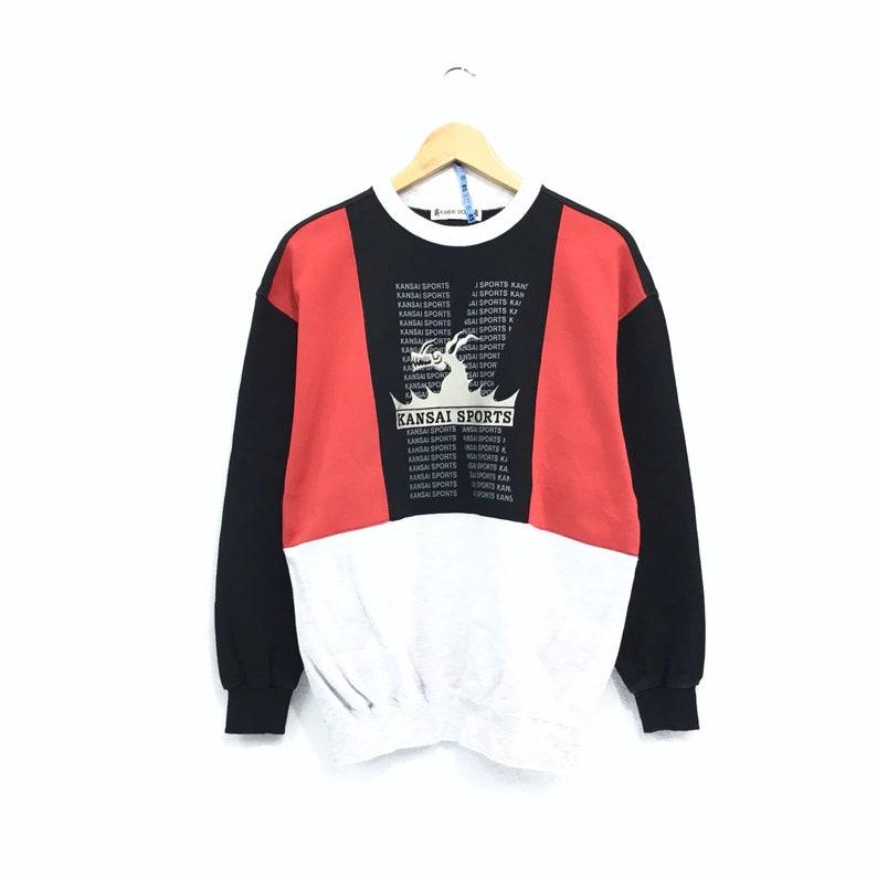 Vintage 90/'s Kansai Sport Sweatshirt big logo spellout vintage Japan Designer Kansai Yamamoto Vintage men clothingVintage jumper