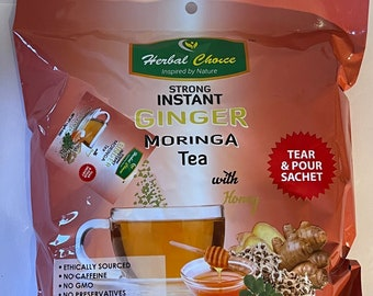 Strong Instant Ginger & Moringa Tea with Honey