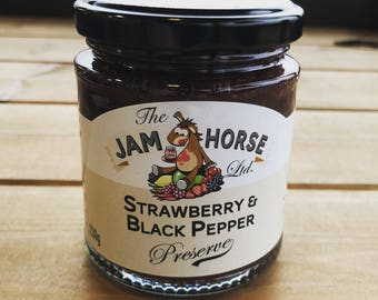 The Jam Horse Strawberry and Black Pepper Preserve