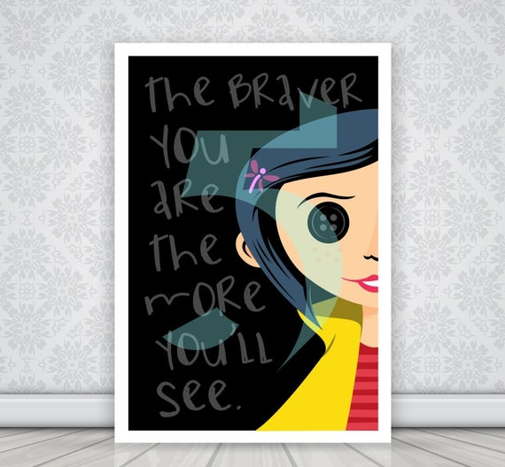 Coraline Poster Wall Art Decor Print Decor Instant Etsy