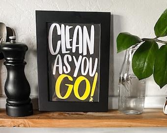 Clean As You Go Print