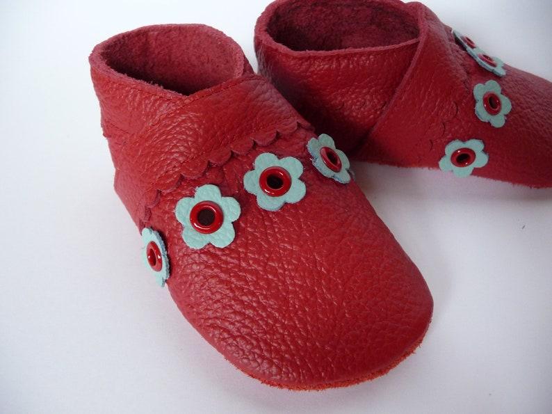huge discount e250a 03cf8 Lederpuschen Krabbelschuhe Ökoleder Gr. 19 Baby Leather Shoes Moccasins