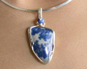 Wonderful Lapis Lazuli Pendant in Sterling Silver P199
