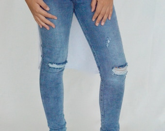 Girls jeggings,girls jeans,ripped jeans,toddler girls jeans, distressed jeans, size ( 4-6-8),skinnies
