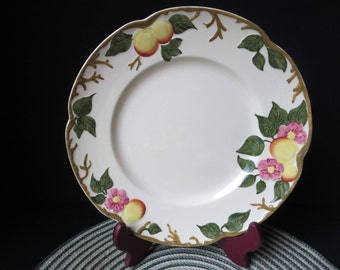 Johnson Brothers Made in England 10 Inch Dinner Plate Peachbloom Signed 1955-1960