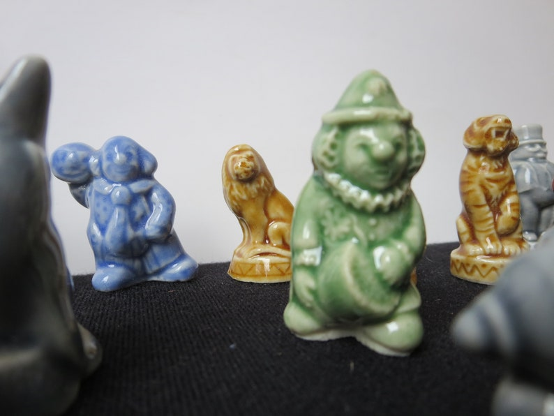 13 of 15 circus design Red Rose Tea Statues Vintage Wade Whimsie Figurines ON SALE Made in England 20 Figurines Included