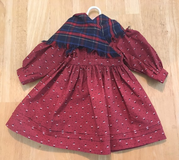 American Girl Kirsten School Dress with Shawl from Kirsten's School Story, Tagged 1989 Pleasant Company