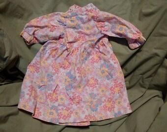 Vintage Handmade Floral Doll Dress