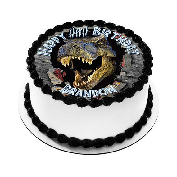 Jurassic World Dinosaur Edible Icing Image Cake Decoration