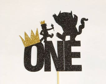 Where the wild things are cake topper wild one wild things wild things are party wild one birthday first birthday max wild rumpus wild party