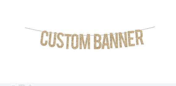 custom glitter banner personalized banner name banner glitter etsy