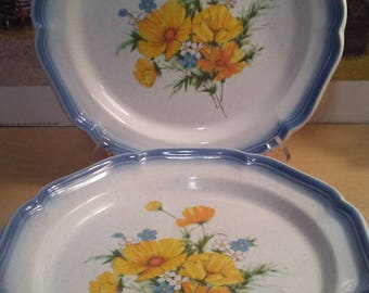 "4-11"" Mikasa Country Club Amy Dinner Plates"
