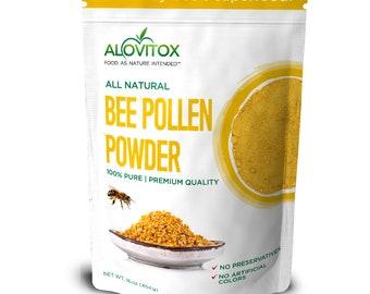 Pure Bee Pollen Powder 16oz by Alovitox - Protein Rich, Powerful Antioxidant, Nutrient Dense Food, Multi-Vitamin Powder, Smoothie Booster