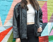 Items Similar To Vintage Flight Path Black Leather Jacket With Sick
