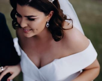 Rose Gold Bridal Crown, Crystal encrusted tiara, Silver Tiara, bridal hair accessories, rose gold tiara, gold crown