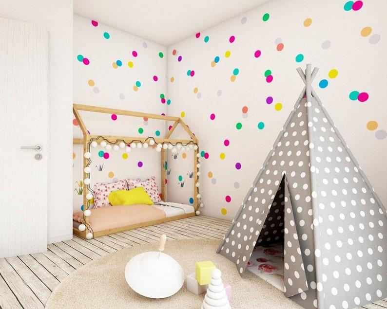 Confetti Dots Wall Decal Set Rainbow