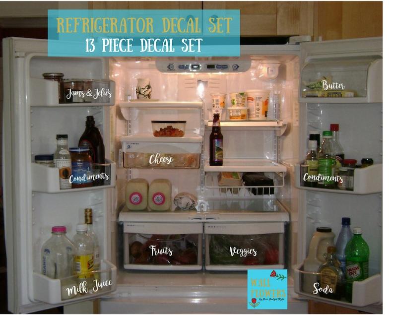 Kühlschrank Aufkleber : Kühlschrank aufkleber decals organisation satz von dreizehn etsy