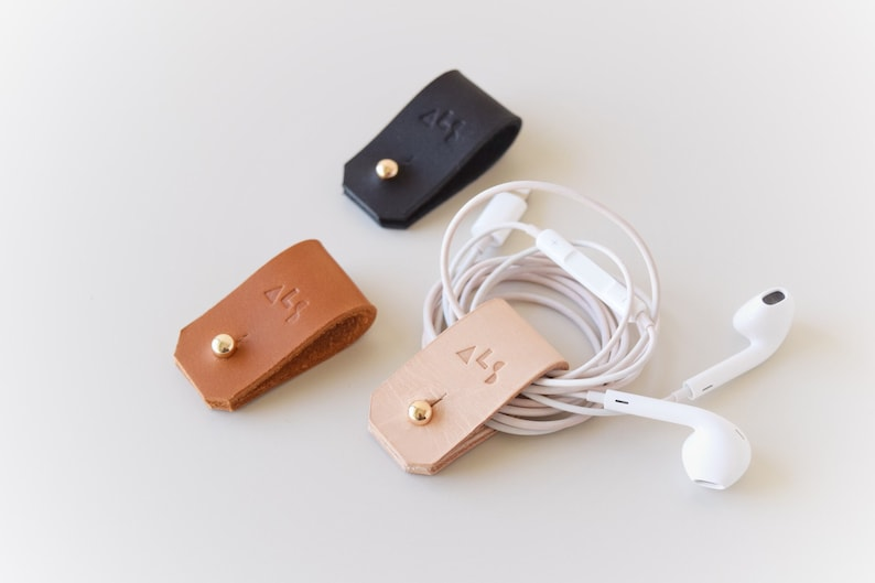 Minimal Leather Cord Organizer  4 colors image 0