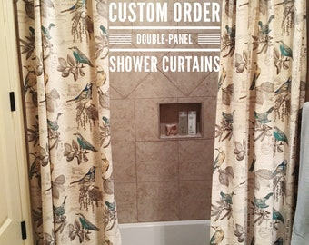 Custom Order Double Panel Shower Curtains Curtain Extra Long