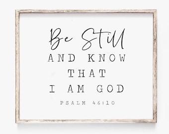 Psalm 46 10 Print (You'll Enjoy) | Etsy