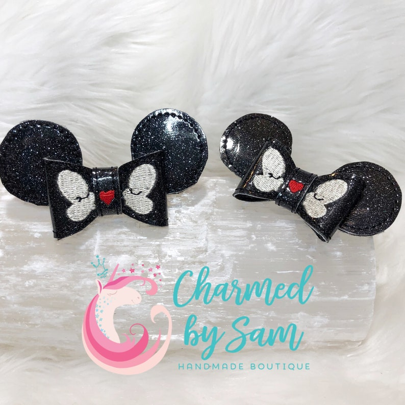 Disney Mickey Minnie Bow with Alligator Clip