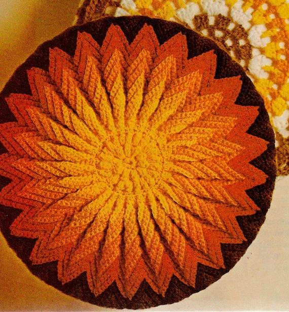 Crochet pillow pattern, crochet round pillow pattern, crochet ...