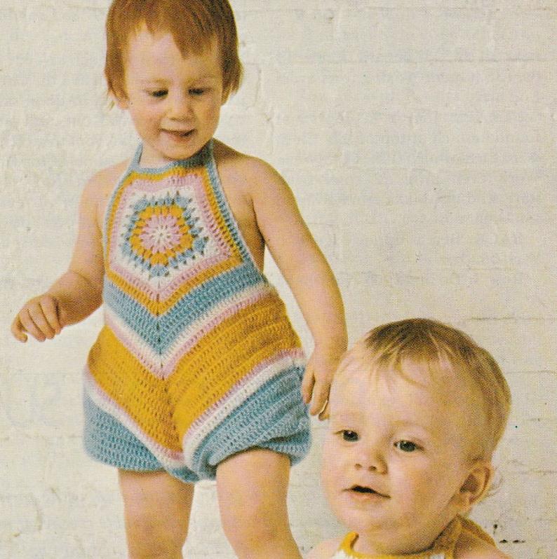 d773a53d4862 Crochet romper pattern size 1-2 years crochet sunsuit