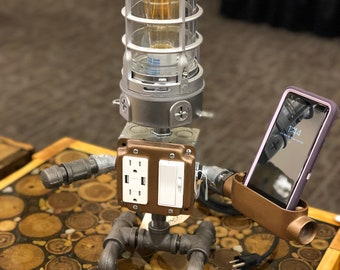 Cell phone holder lamp, cell phone accessories, robot lamp