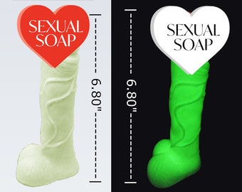 """Penis Soap Glow In The Dark Soap ,XL Extra Large Penis Soap (6.80"""")  , XL Penis Soap, Extra Large Dick Soap, Glow in The Dark Penis Soap"""