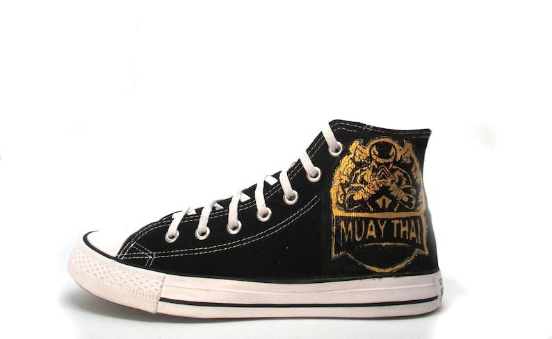 Muay Thai personalizzati scarpe Converse scarpe Top alto stile LqzMit9A