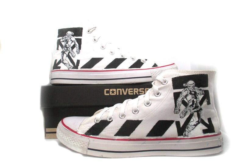 c7aa1ecc73914f Muay Thai custom converse shoes x off white