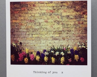 Thinking of you, greetings card