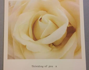 Thinking of you, greetings card.