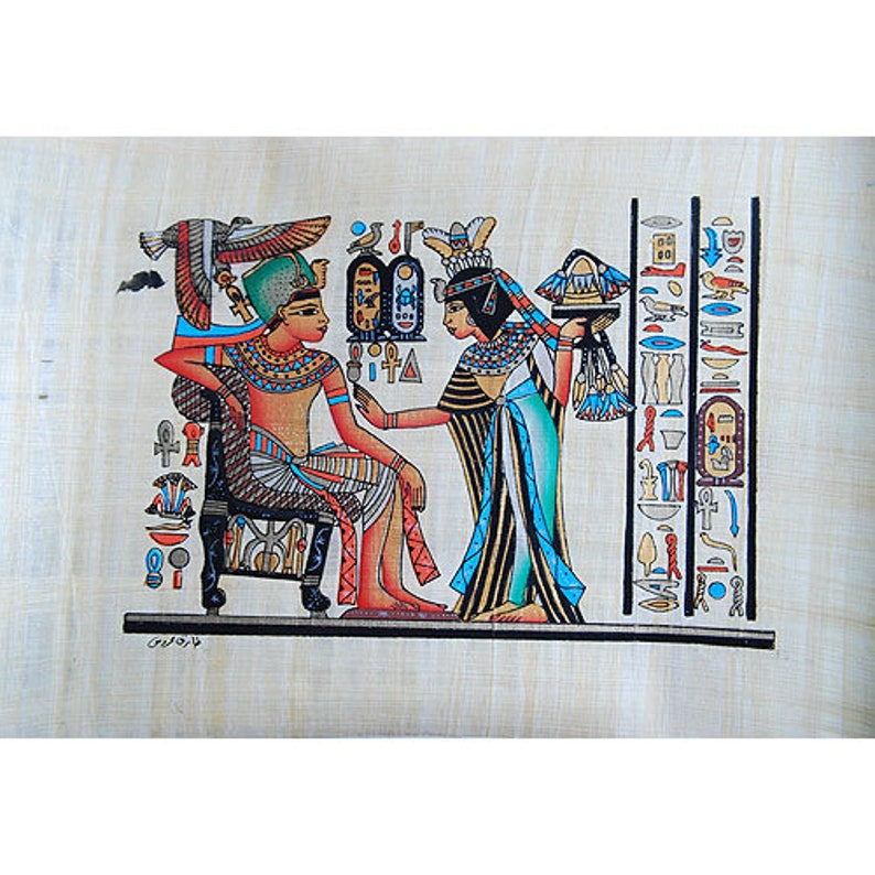 Egyptian Papyrus Painting - Ramses Riding Into Battle - Hand Painted Best  Price Original Papyrus