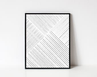 Line Art, Minimalist Wall Art, Abstract Art, Geometric Art, Abstract Printable, Modern Wall Art, Printable Poster, INSTANT DOWNLOAD