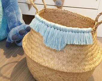 Blue Bohemian basket