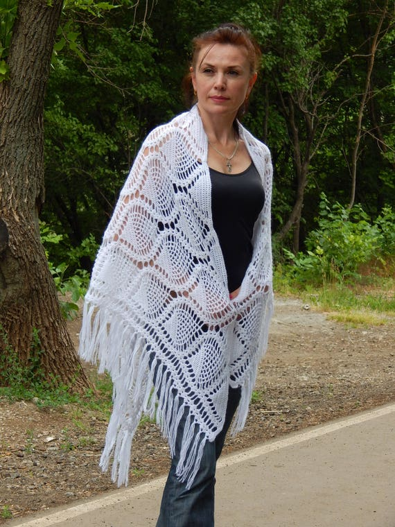 The Accessory Collective Scarf Wrap Shawl Knit Fringe Gray Black One Sz Triangle