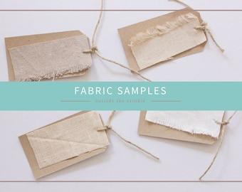 Fabric Samples - Hemp, Organic Cotton and Linen