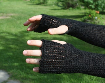 Wrist warmers, soft sleeves, wool arm warmers - Fingerless gloves, Hand warmers, knitted