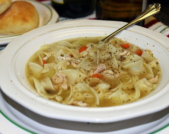 Easy, Good-For-You Homemade Chicken Noodle Soup Recipe (PDF)