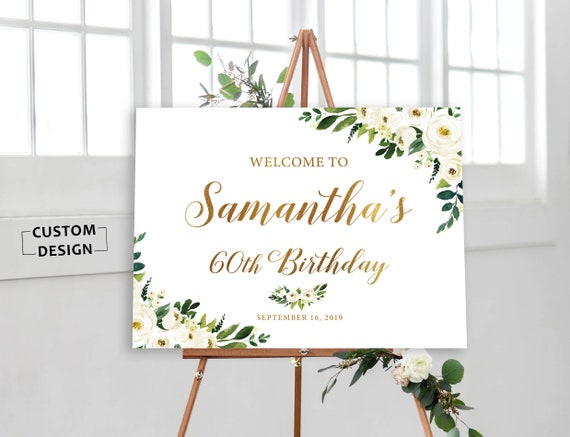 photo about 50th Birthday Signs Printable titled Birthday Welcome Signal, Rustic Birthday Signs or symptoms Printable, Birthday Bash Decoration, 50th 60th, 70th Birthday Indicators and added, Greenery Signs or symptoms