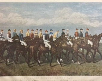 George Veal Our Leading Jockeys Of The Day Equestrian / Horse wall art