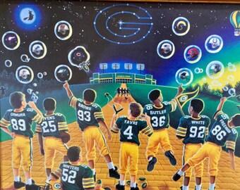 NFL Green Bay Packers Vintage 1997  Framed 22x18 Poster Print