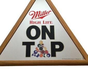 Miller High Life Beer Billiards Bar Sign / Mirror